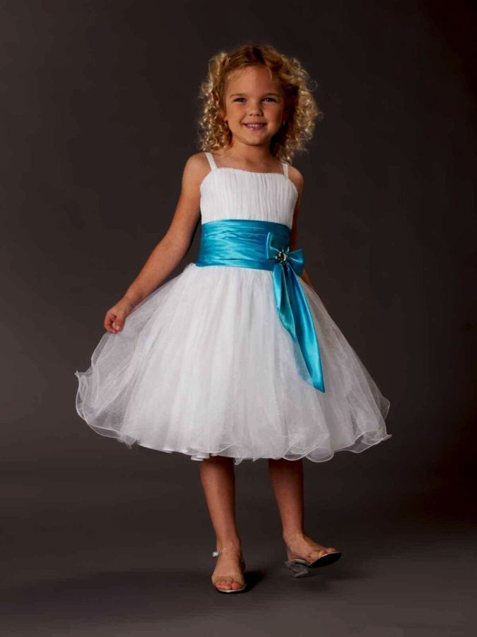 2019 Flower Girl Dresses Girls Formal Occasion Sash A-Line Ribbon