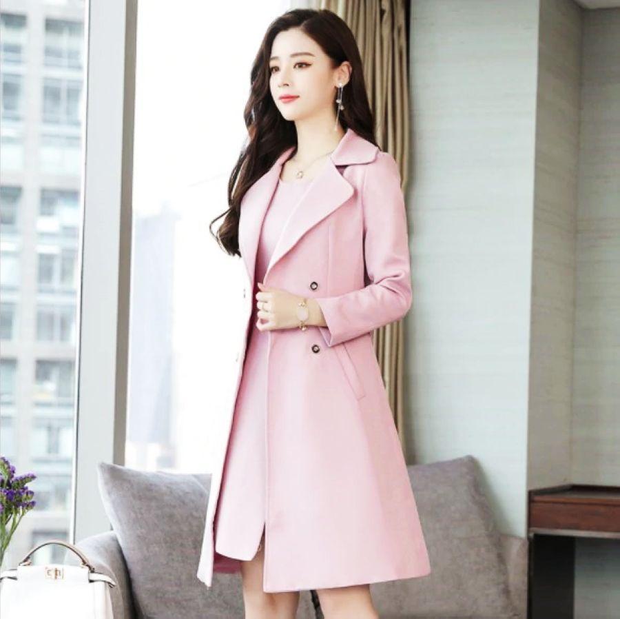 Ladies Knee Length Dress Suits For Women Office Wear Long