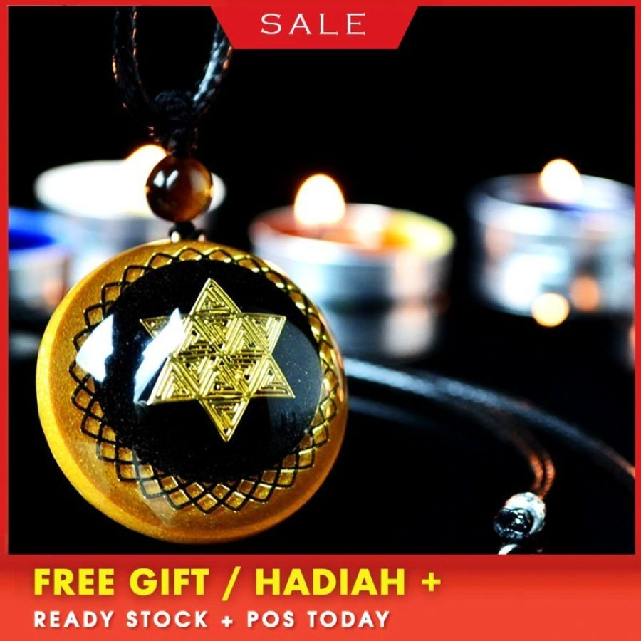 Orgonite Energy Pendant Natural Crystal Pendant Necklace Chakra Healing Charms