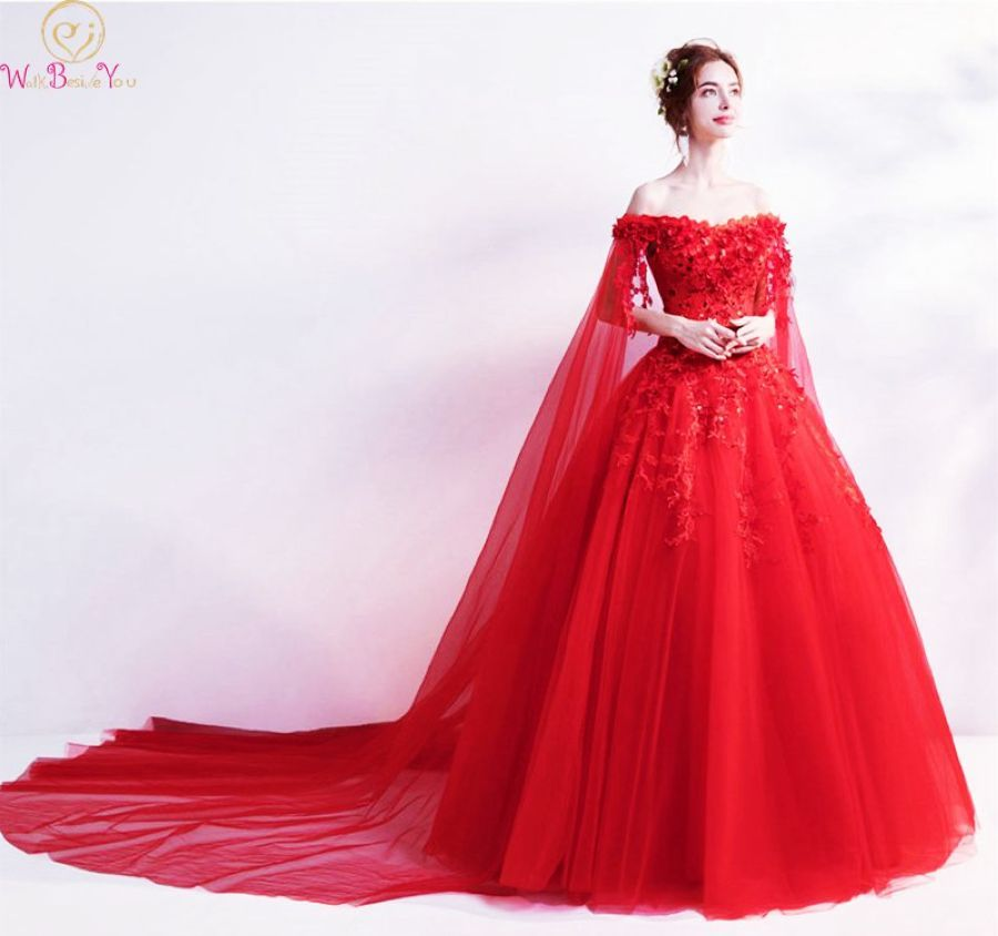 Wine Red Prom Dresses New Arrival Special Sleeves Boat Neck