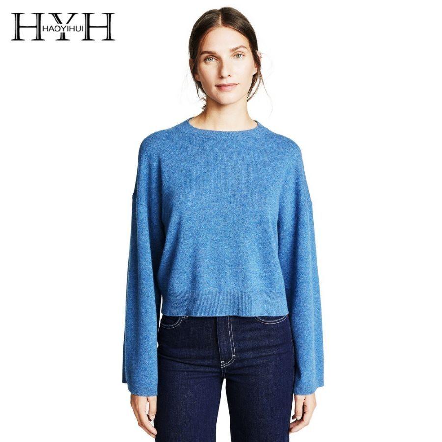 Hyh Haoyihui Fashion Simplicity Wild Joker Pure Color Easy Round