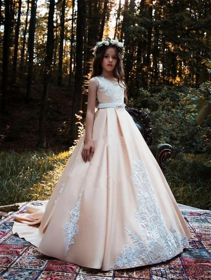 Vestido Daminha Flower Girl Dresses Princess Kids Formal Wear Gowns