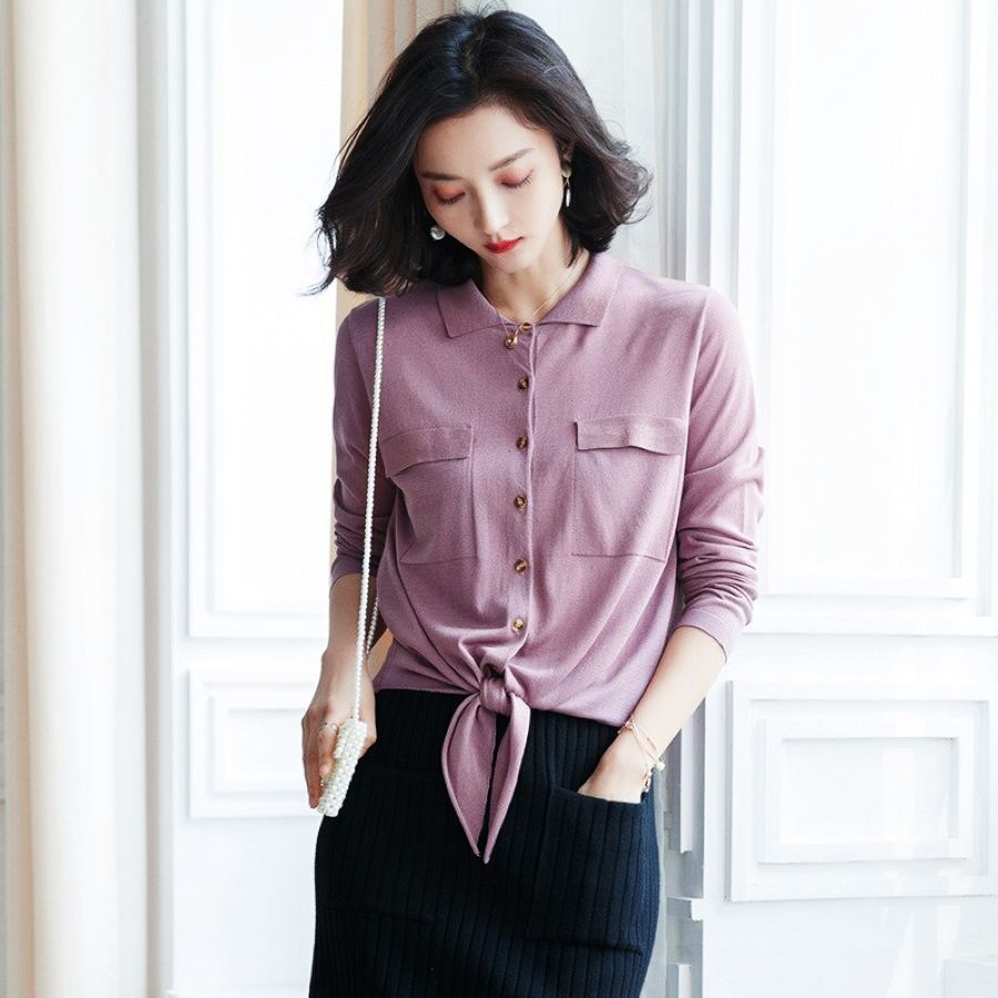 2019 Retro Sweet French Fashion Sweater Shirt Female Summer Temperament