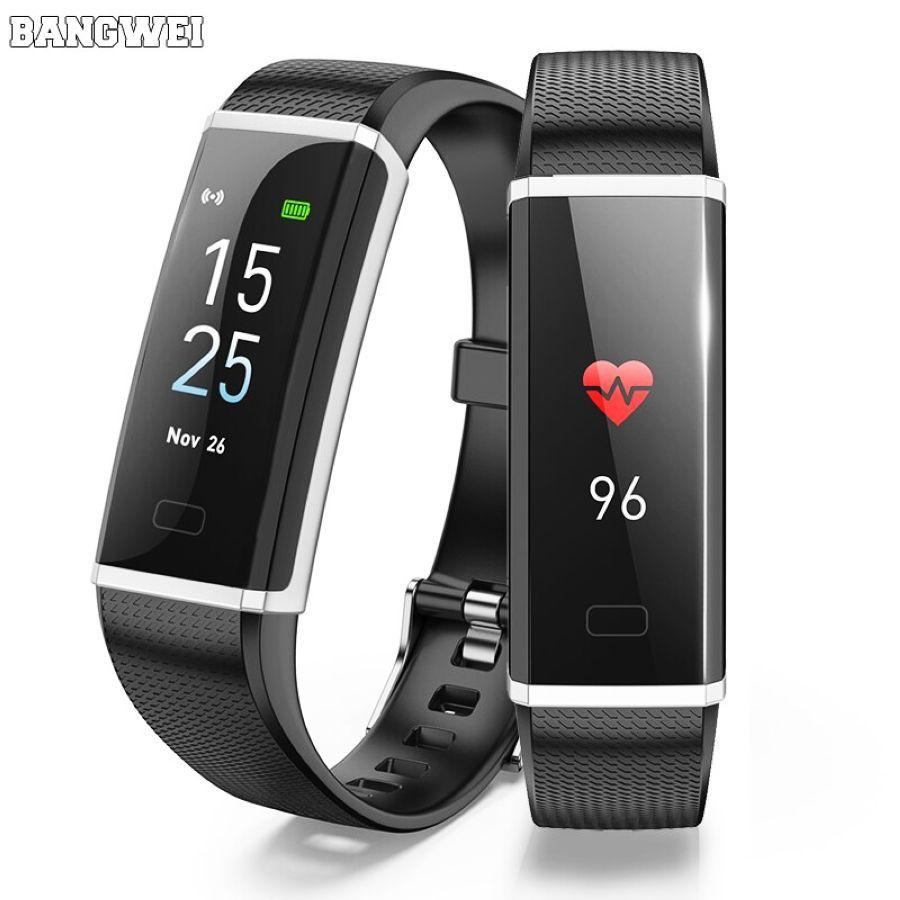 2019 Bangwei Neue Sport Armband Frauen Smart Fitness Armband Blutdruck