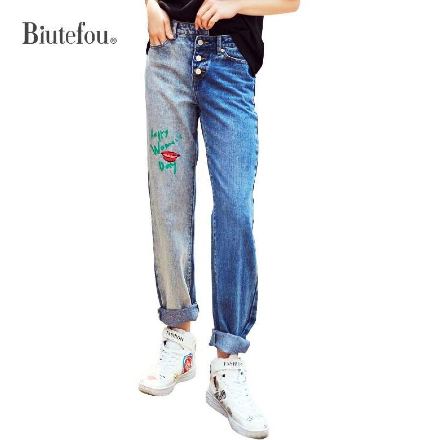 Pantalones Vaqueros Pantalones Mezclilla Pintados Verano Ropa Y Moda Mujer