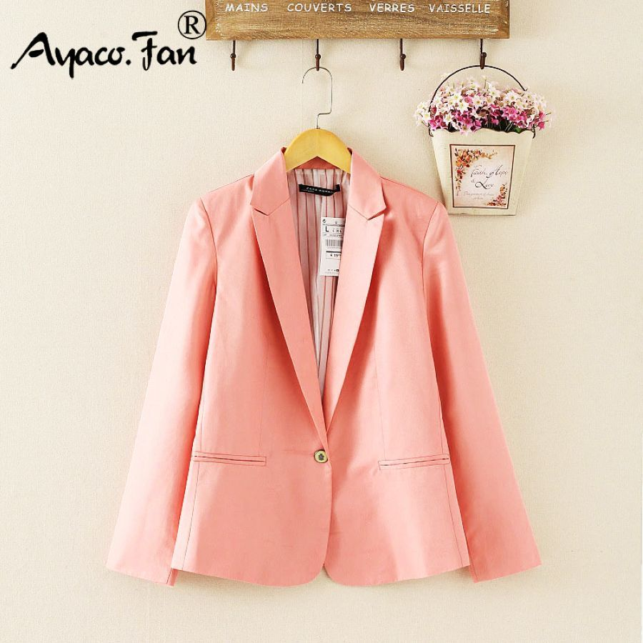 2019 Spring Autumn Candy Color Blazer For Women Female Single