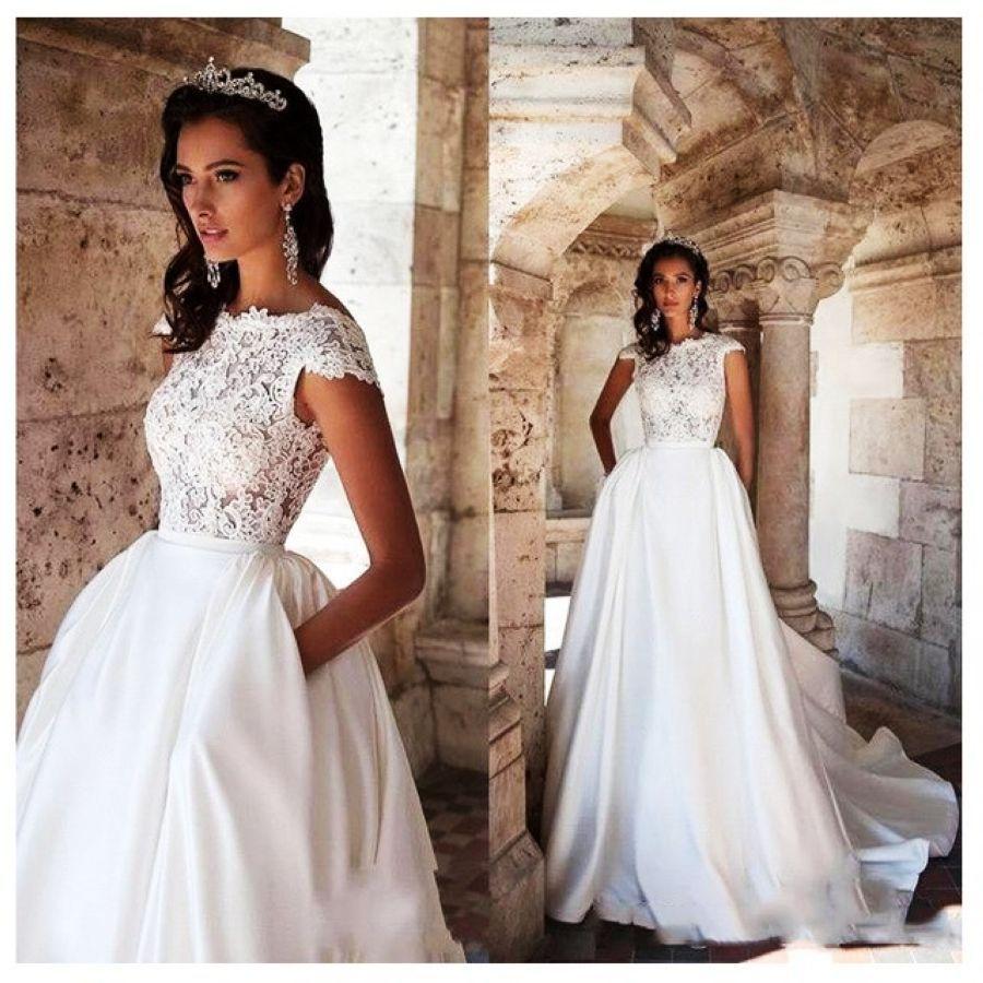 Princess Wedding Dress Short Sleeves