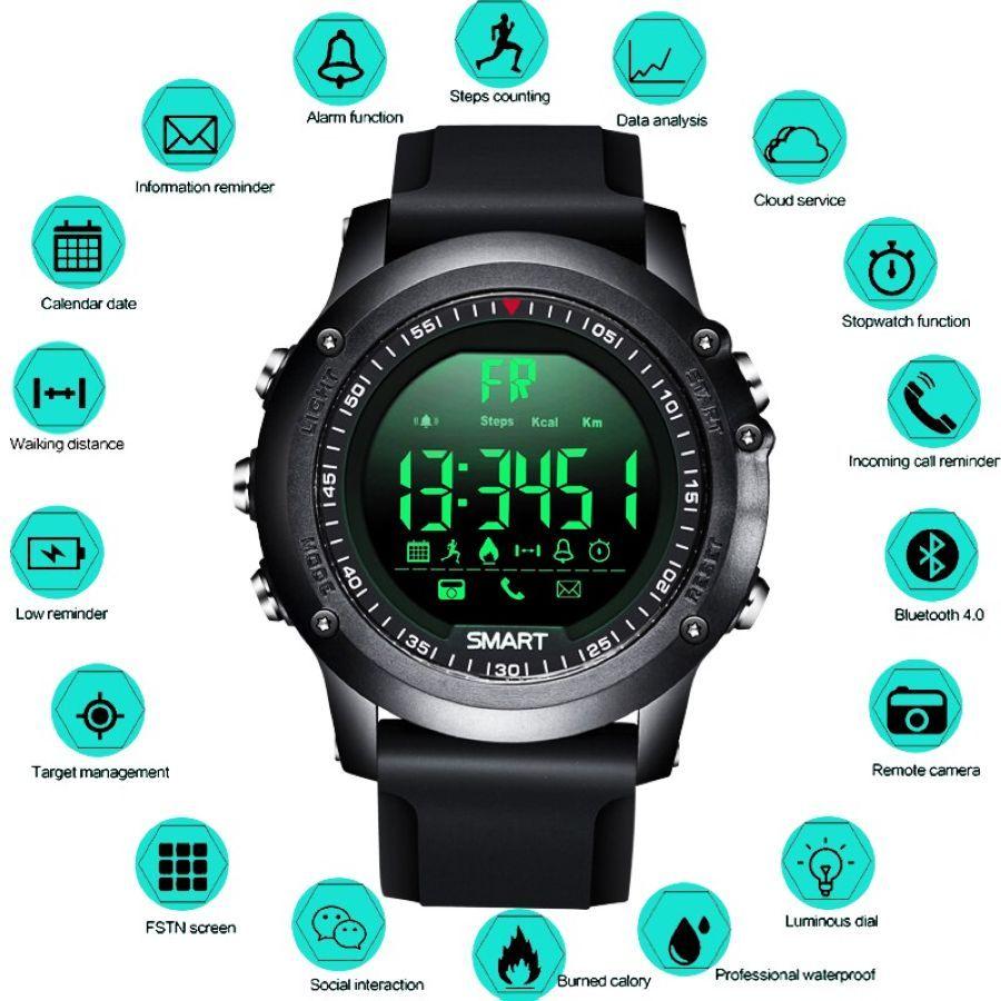 2019 Neue Bangwei Smart Watch Men Womens Sport Pedometer Waterproof