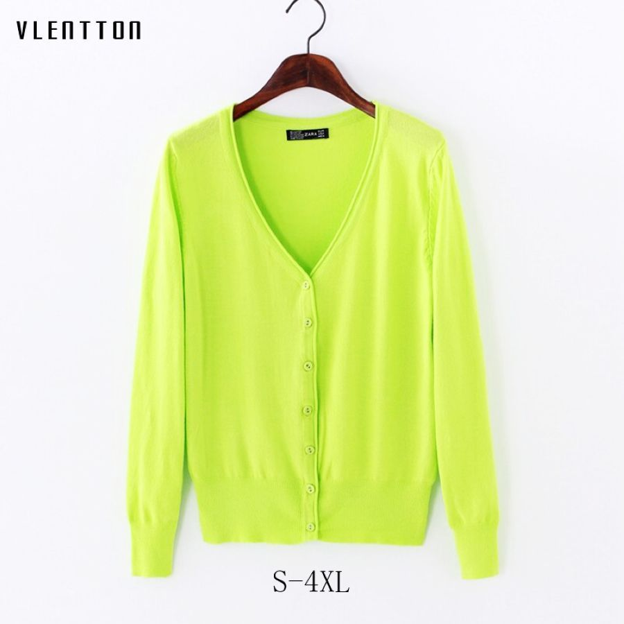 2019 New Plus Size Knitted Cardigan Women Short Long Sleeve