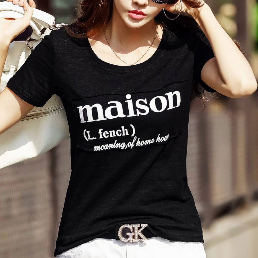 Blusa Fashion T Shirt Women Short Sleeve T-Shirt Top Female