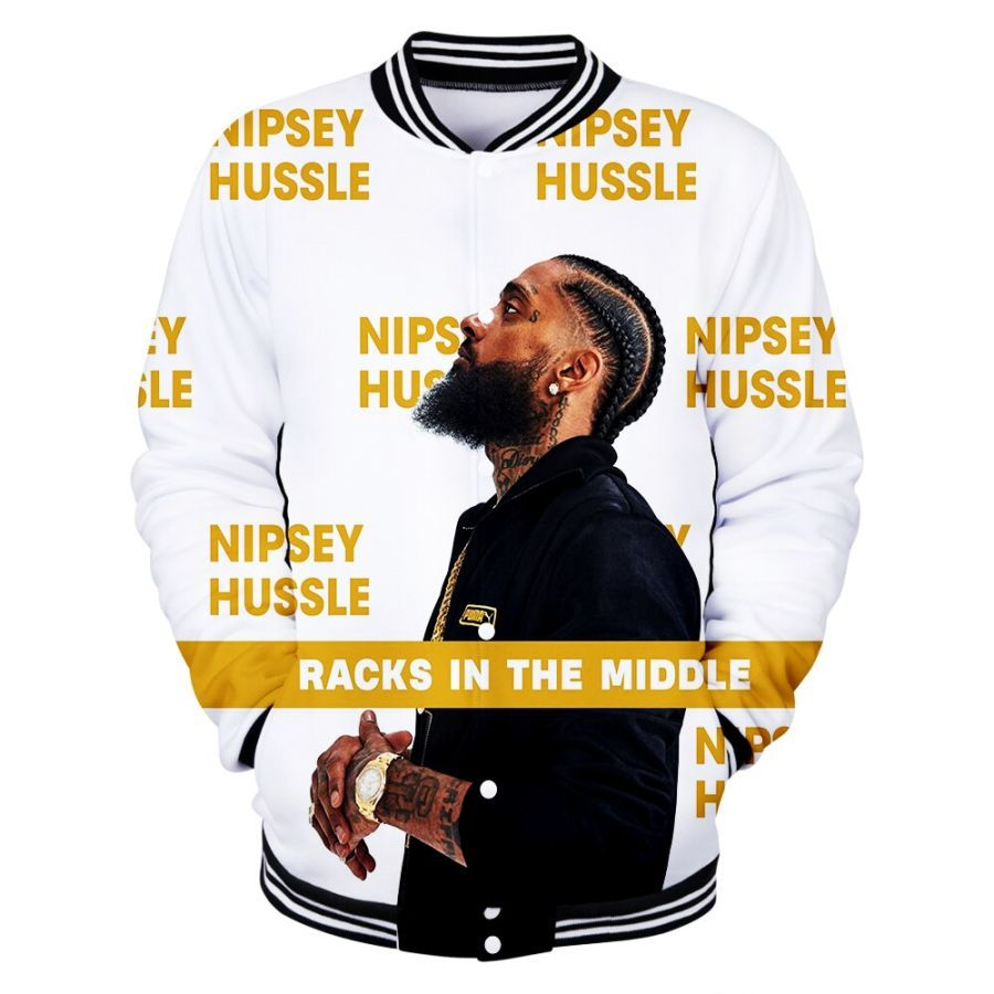 2019 New 3d Rep Nipsey Hussle Jacket Casual Autumn Baseball