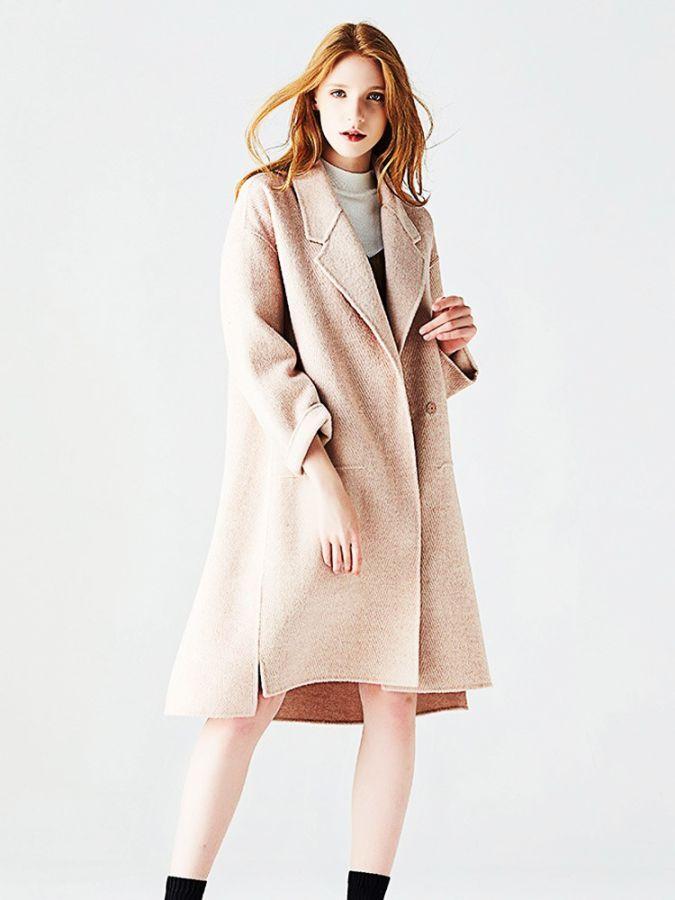Alta calidad 2019 nuevo abrigo de lana mujer de doble c