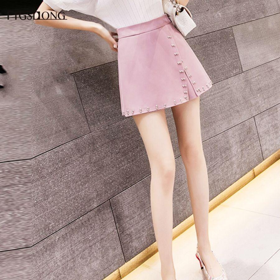 Ftgsdlong moda mujer pantalones cortos faldas 2019 nuev