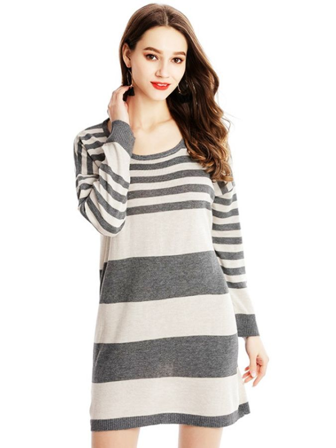 2019 Fashion New Sweater Womens Loose Woven Large Size Long