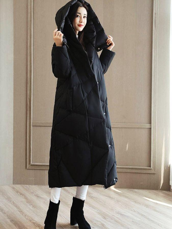 2019 Fashion Winter Cotton Coat Long Section Show Parker Slim