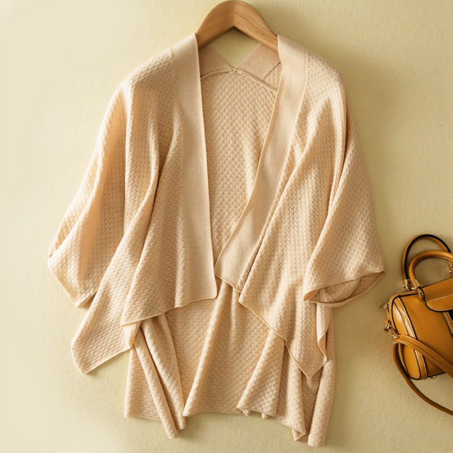 Lhzsyy Spring New Womens Wool Knit Cardigan Solid Color Large