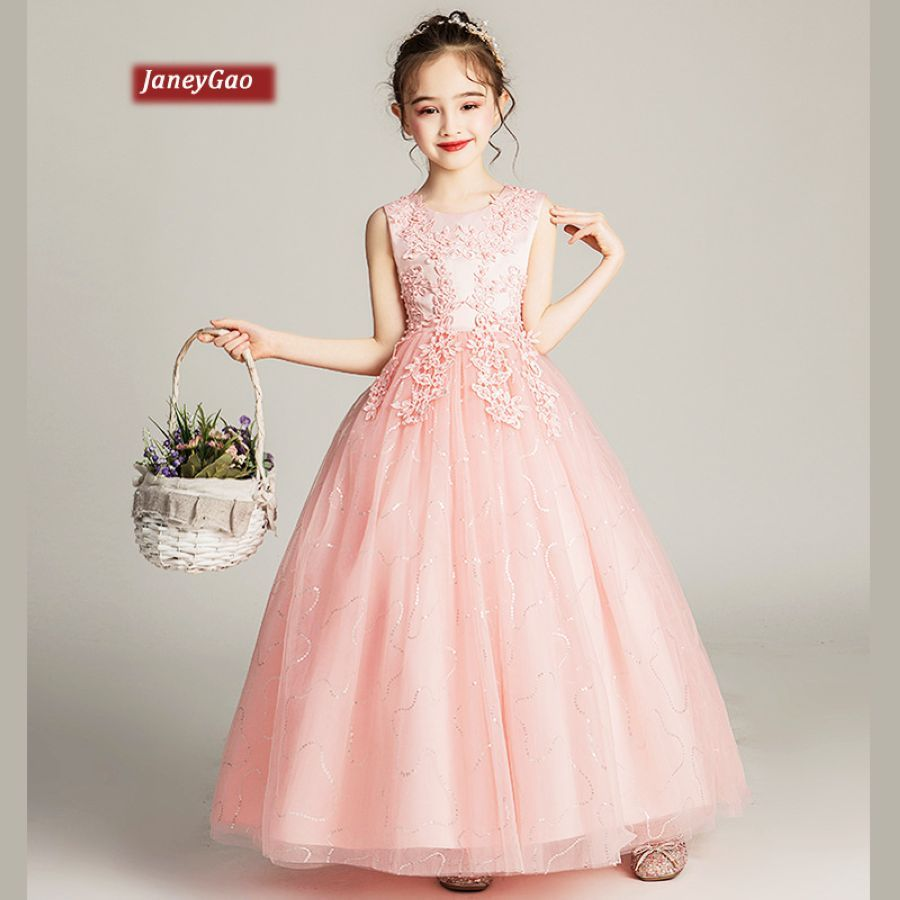 Janeygao Flower Girl Dresses For Wedding Partygirls First Communion Dresses
