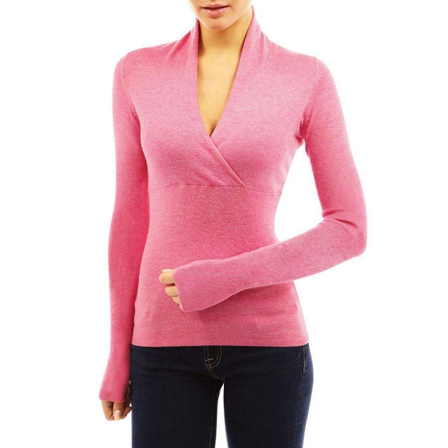 2019 Winter Women Warm Sweater Ladies Cotton Deep V-Collar Sweater