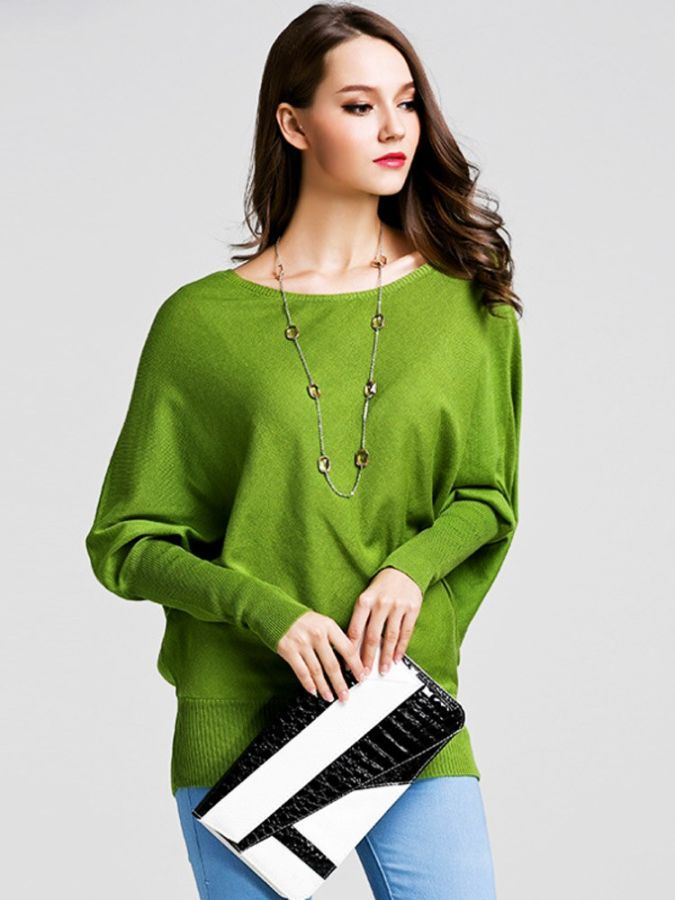 2019 Hot Fashion Long Sweater Spring New Women Knit Pullover