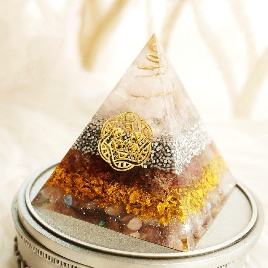 Radiation Protection Orgonite Energy Pyramid Resin Decorative Craft Jewelry Energy
