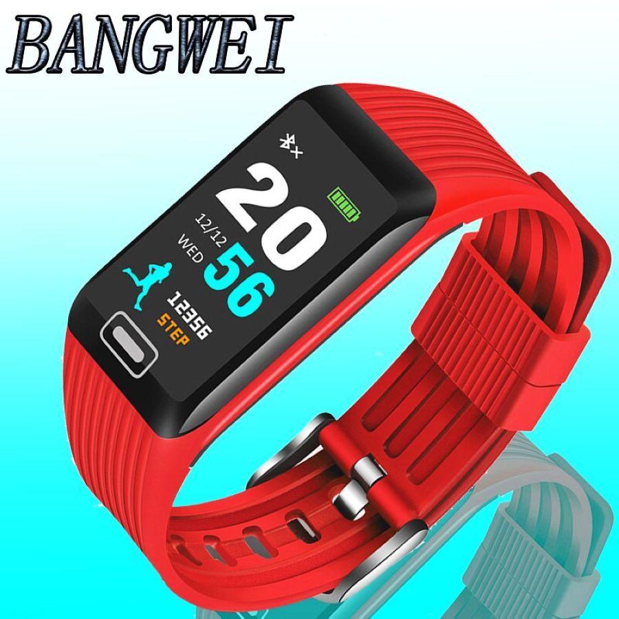 2019 Bangwei New Smart Watch Men Women Fitness Tracker Heart