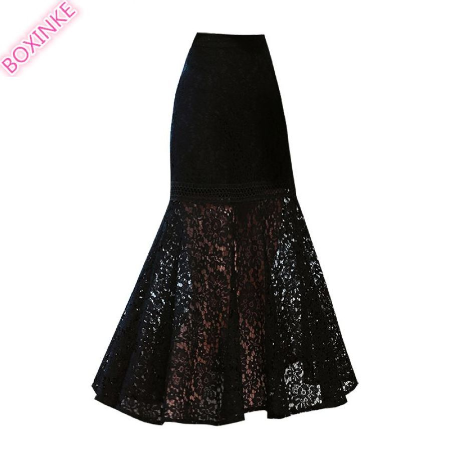 Saia Midi Top Lanon Skirts Lace Fishtail Skirt Slim Bottom