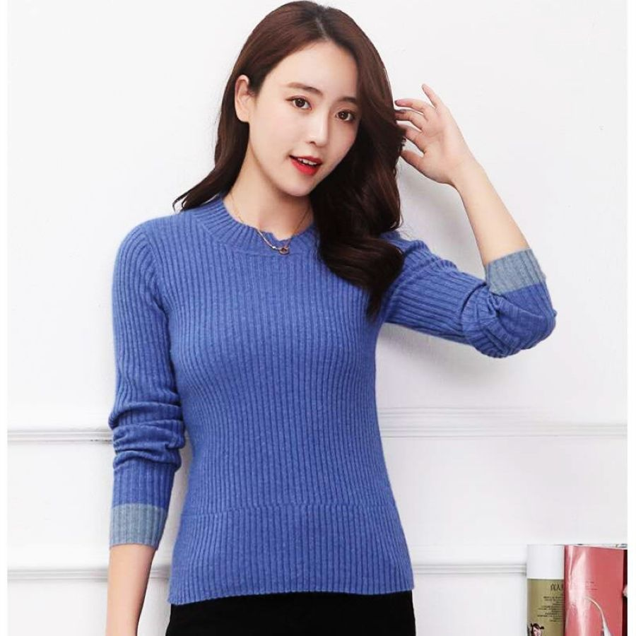 Lhzsyy Womens New 100pure Cashmere Sweater Fashion O Neck Knit