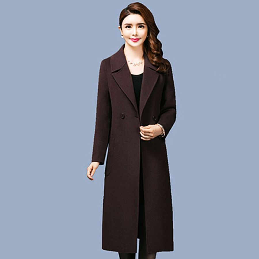 Autumn Winter Thick Woolen Coat Female New Large Size Over