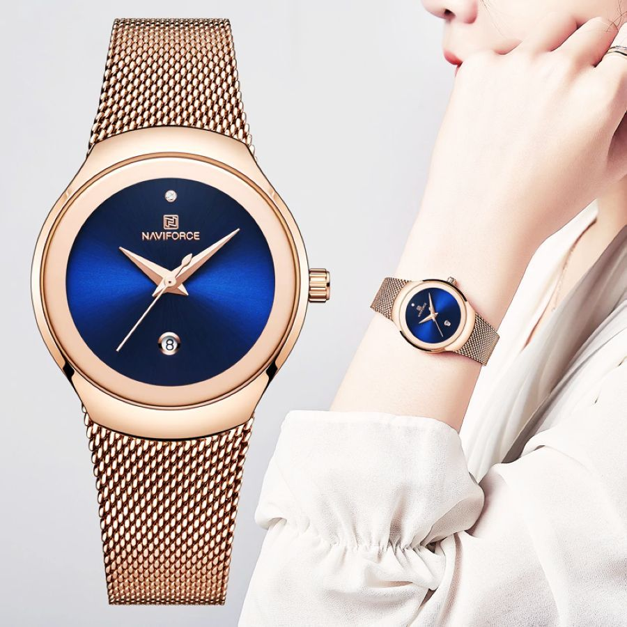 Top Brand Naviforce Women Simple Watches Female Luxury Quartz Calendar