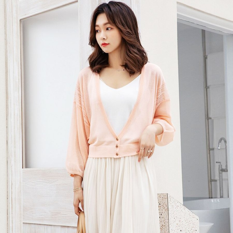 2019 New Arrival Womens Short Knitted Coat Summer Lazy Style