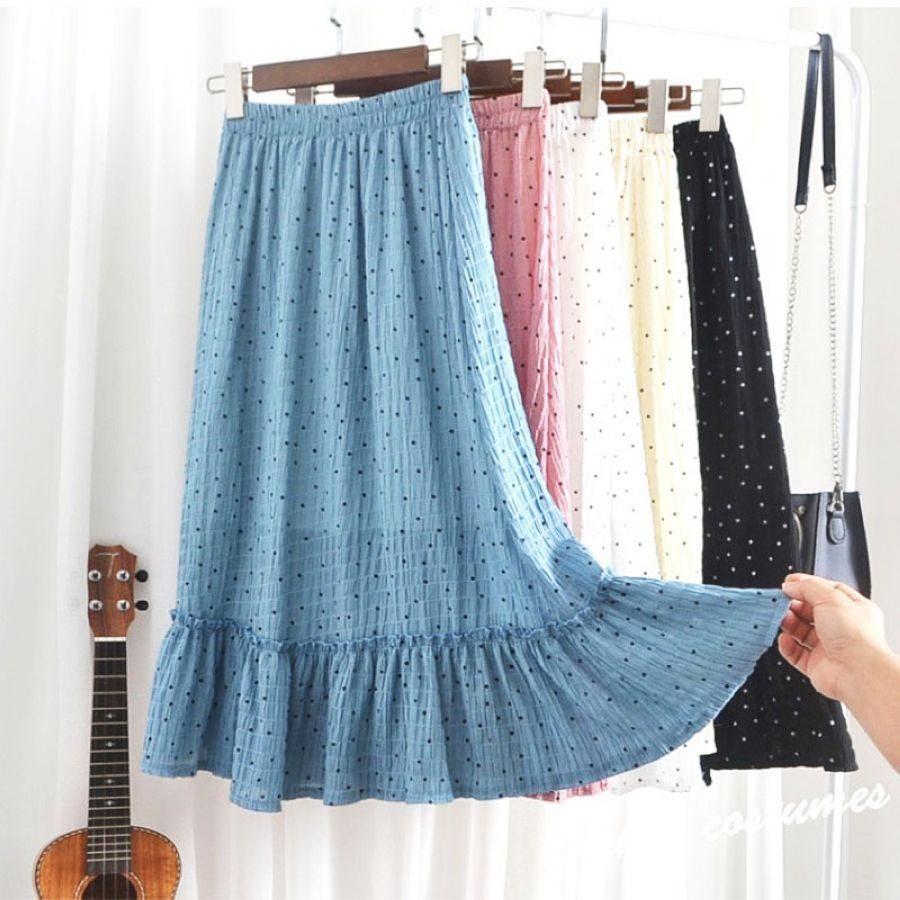 Teenage Chiffon Skirt In The Long Paragraph 2019 Summer New