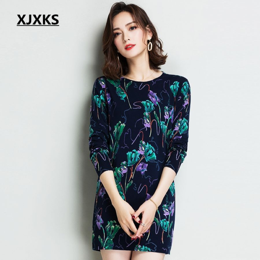 High Quality 2019 New Women Sweater Reactive Printing Oversized Sweater