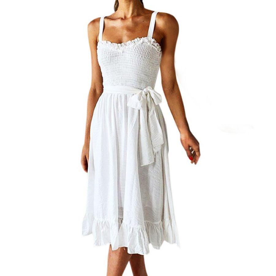Dorvivon Summer Dress 2019 Beach Women Strapless Dresse