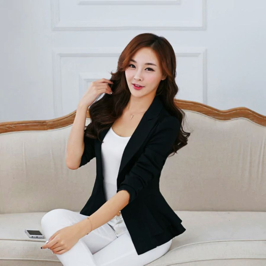 J62901 high quality fashion women blazer jacket