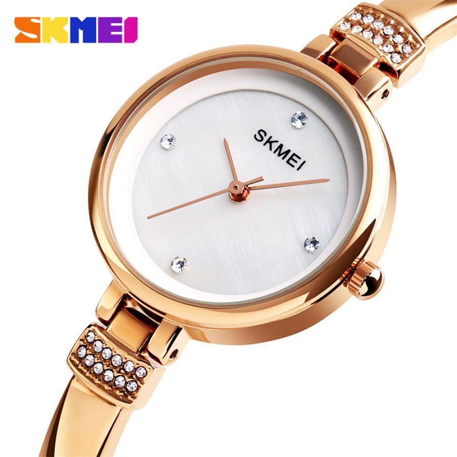 2019 Skmei Luxury Rhinestone Inlay Female Watch Women Quartz Watches
