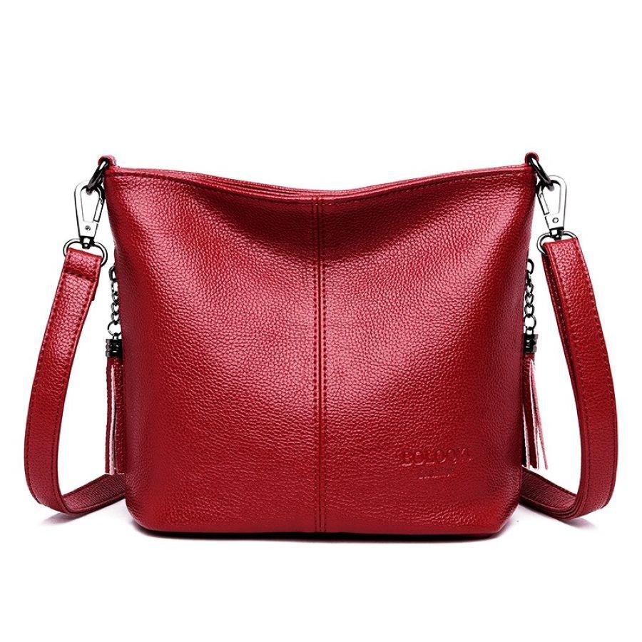 Small Bucket Bags For Women 2019 Tassel Women Leather Handbags