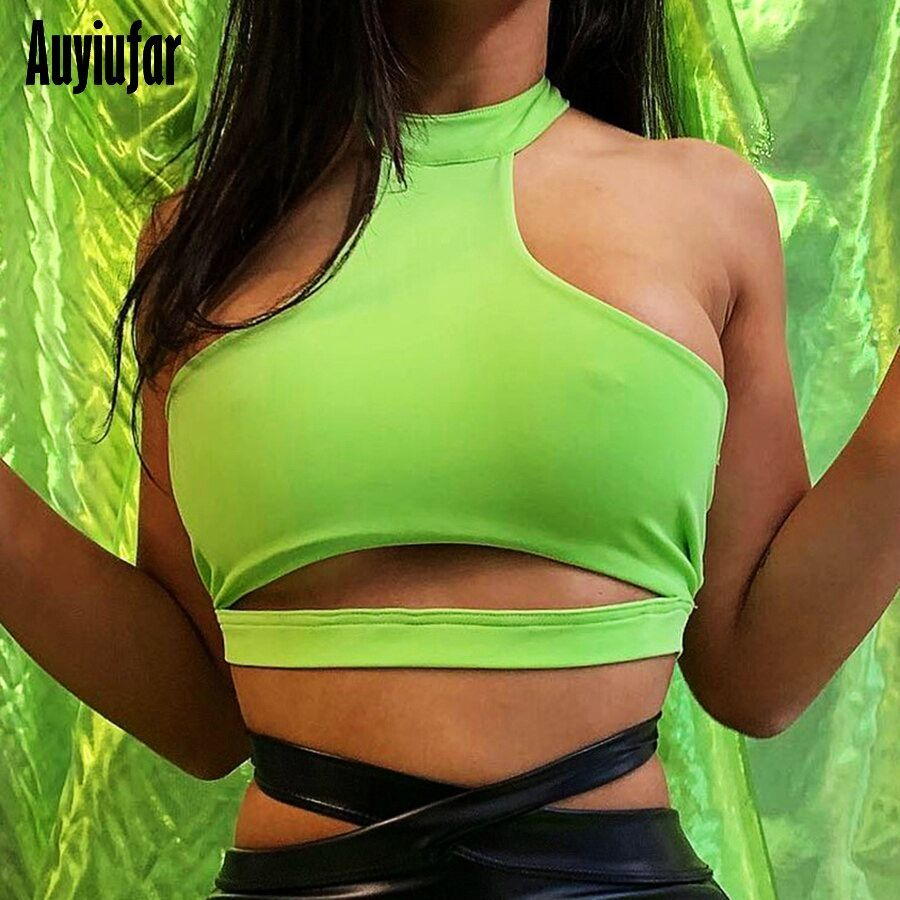 Auyiufar Print Cropped Tank Tops Women Strapless Skinny 2019 Summer