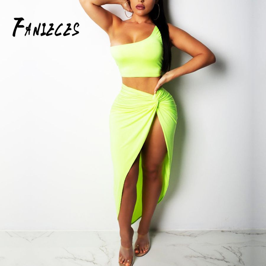 Fanieces 2 Two Piece Set Women Two Piece Outfits Crop