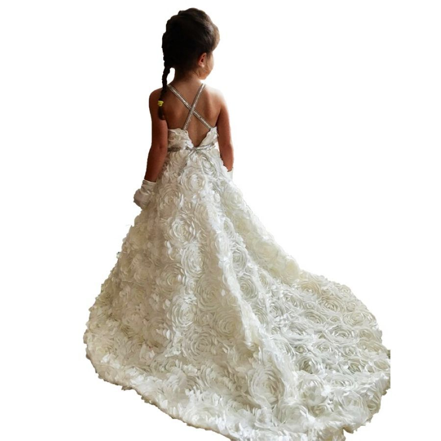 Wedding Party Dresses Little Bride Elegant Little Girls Ball Gowns Kids Party