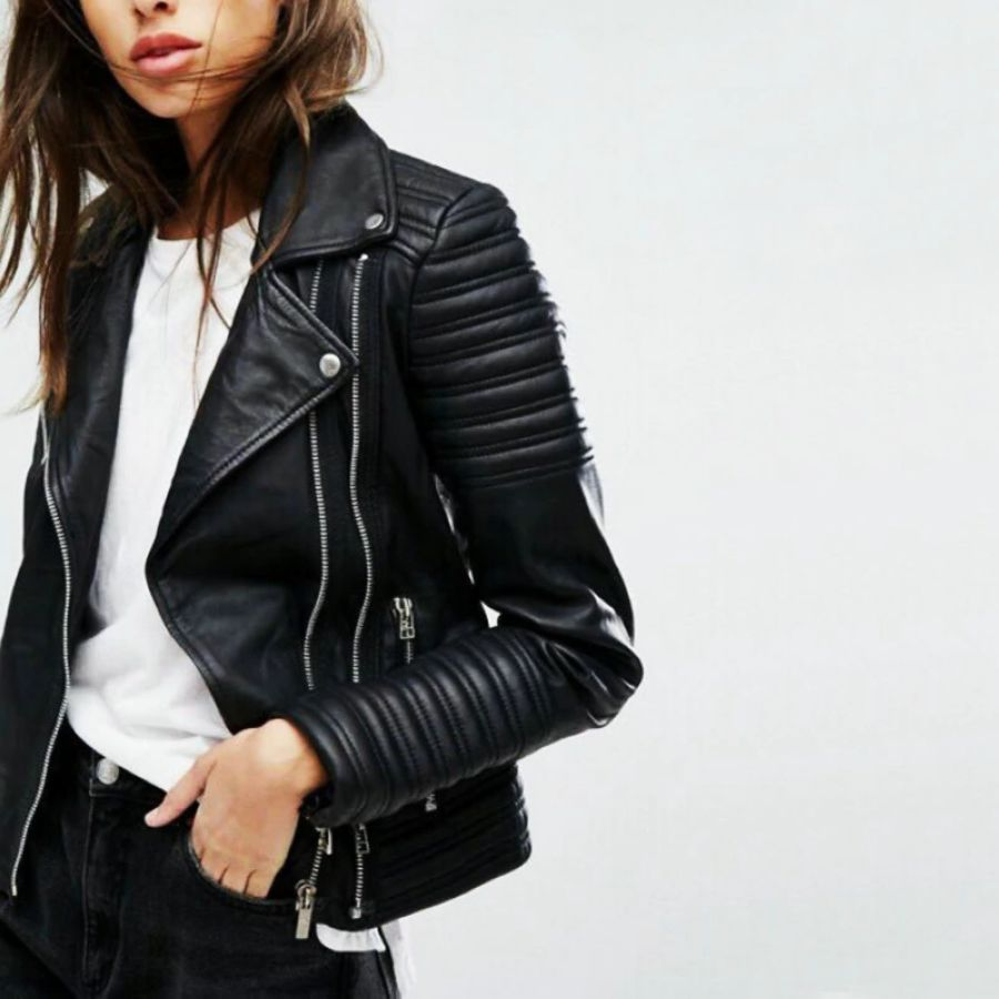 2019 New Fashion Women Soft Motorcycle Faux Leather Jackets Ladies
