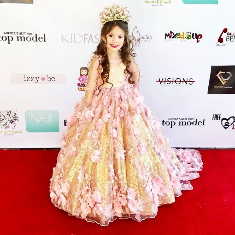 Lakeydra Pink Tulle Flower Girl Dresses For Weddings Long Sleeves