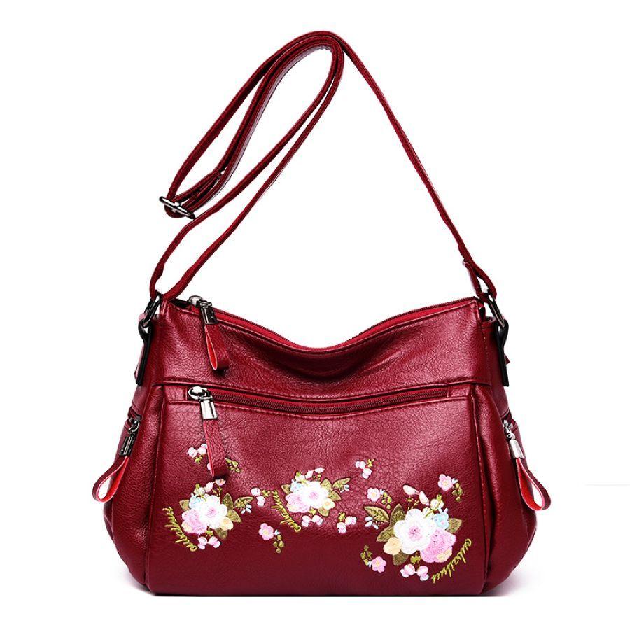 2019 New Fashion Flower Embroidery Handbag Women Luxury Crossbody Designers
