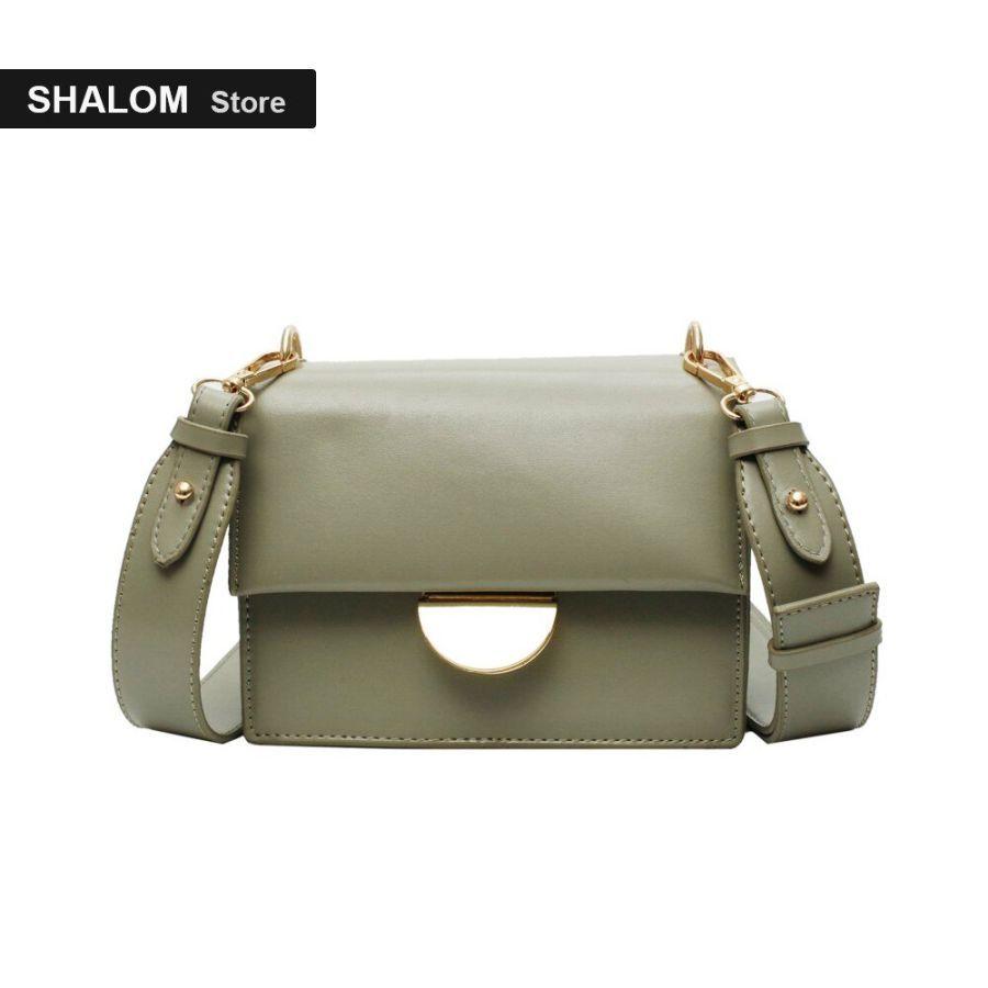 Womens Bag Solid Color Pu Broadband Small Square Bag Simple