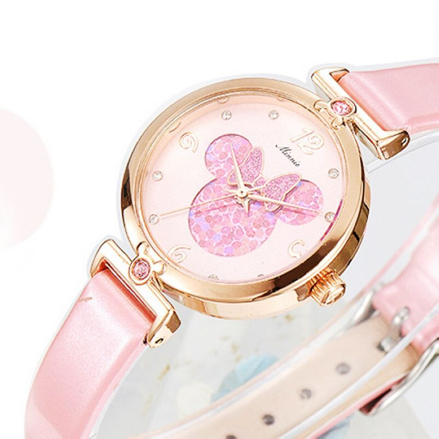 2019 Brand Luxury Womens Watches Fashion Leather Wristwatch For Disney