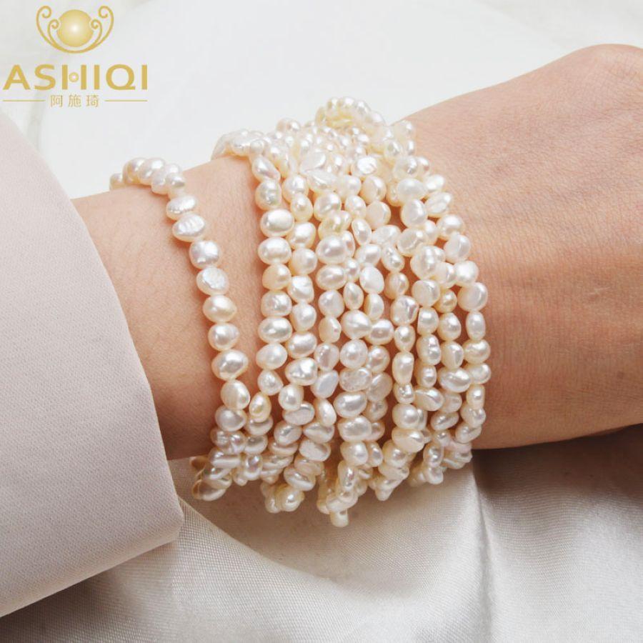 Ashiqi Multilayer Natural Freshwater Pearl Bracelet For Women Gorgeous 10