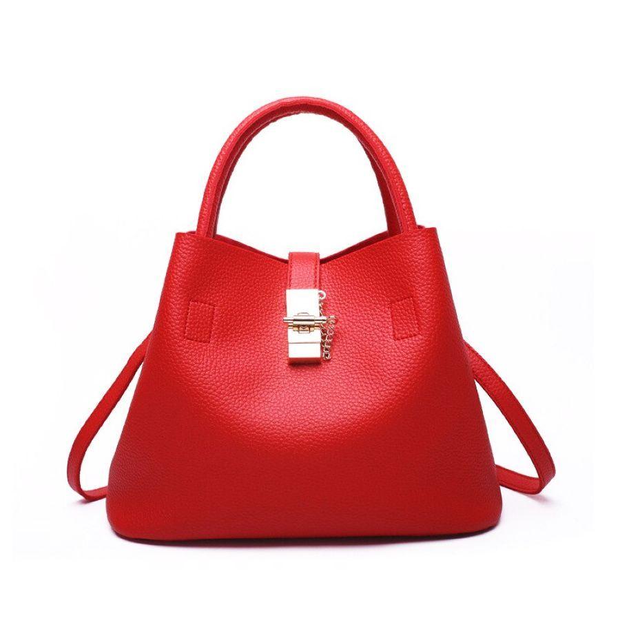 Open Soft Handbag Pu Bucket European And American Fashion Microfiber