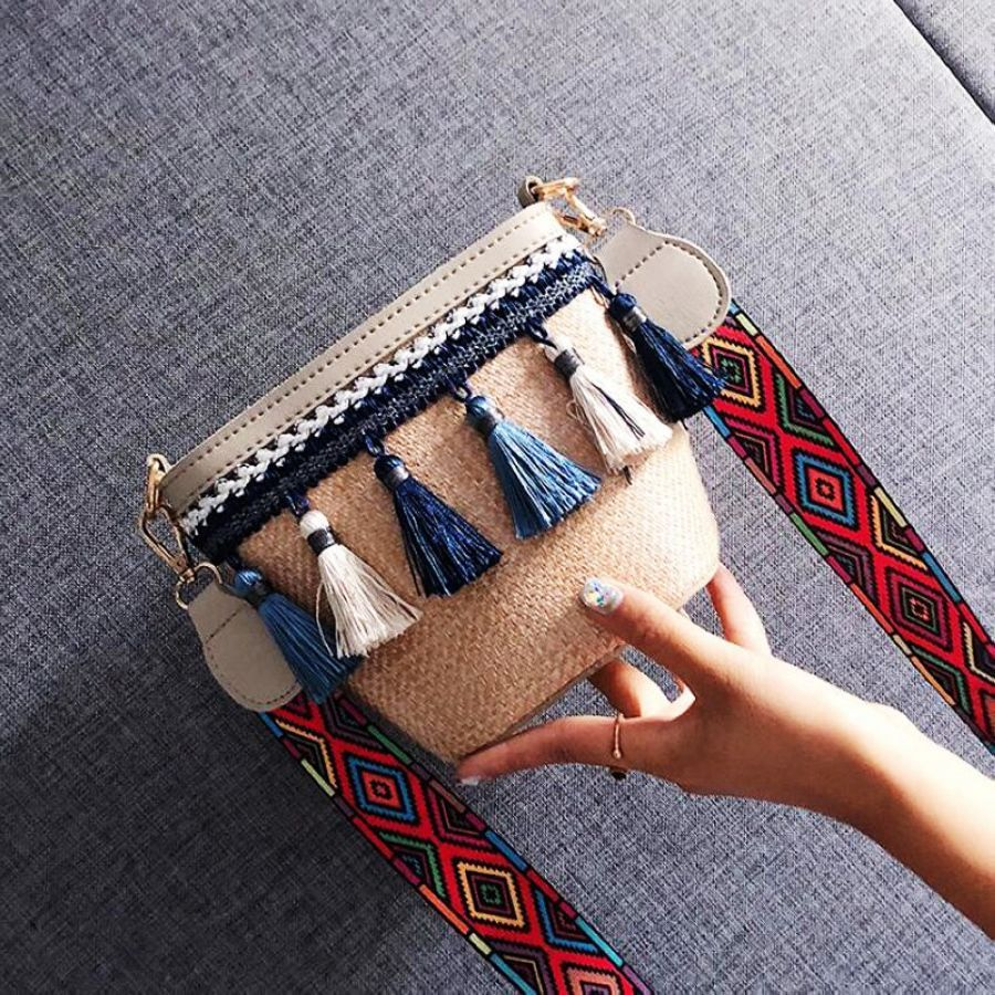 Boho Summer Straw Bag Women Crossbody Bag 2019 Fashion