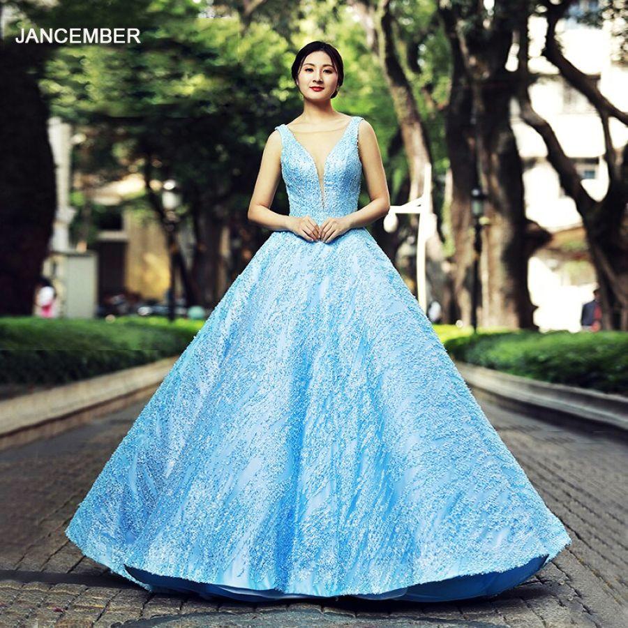J66563 Jancember Quinceanera Dresses 15 Ball Gown Sleeveless V-Neck Floor