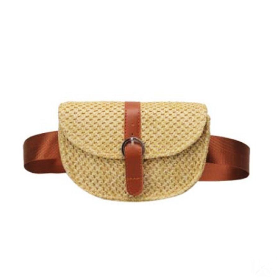 Tejido de un solo hombro diagonal bolso de moda cartera