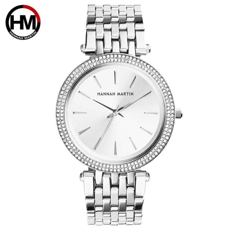 Top Luxury Brand Silver Steel Women Bracelet Watch Fashion Ladies